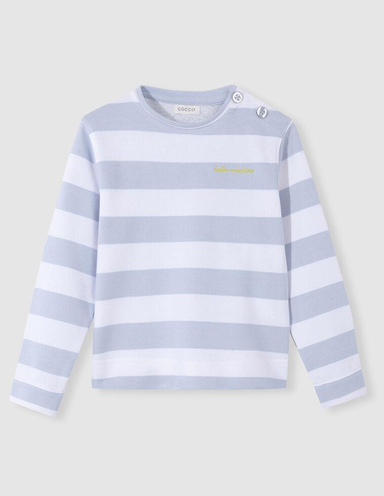 Sweatshirt riscas azul