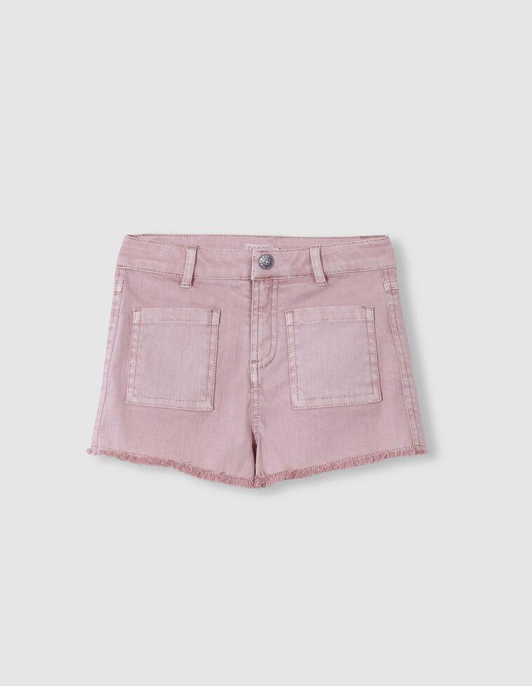 Bermuda cinco bolsillos rosa