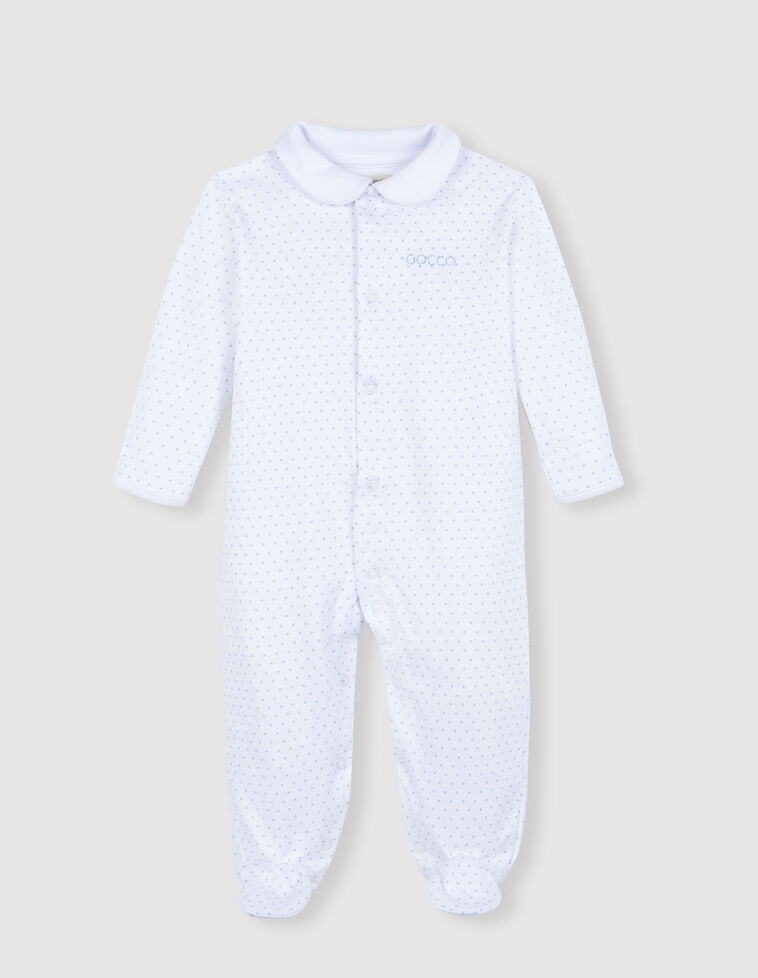 Pijama comprido azul celeste  estrelas