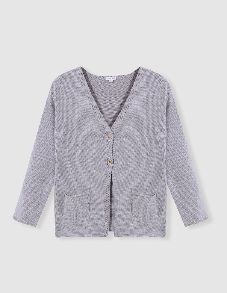 Chaqueta de algodón gris