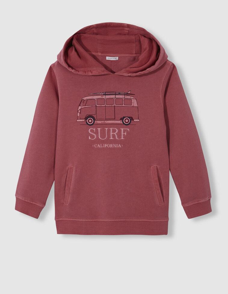 Sweatshirt com capuz morango