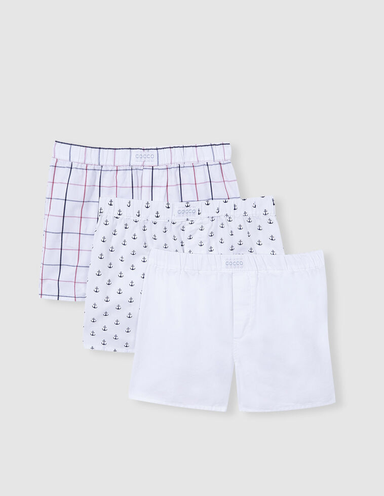 Pack boxers de tecido