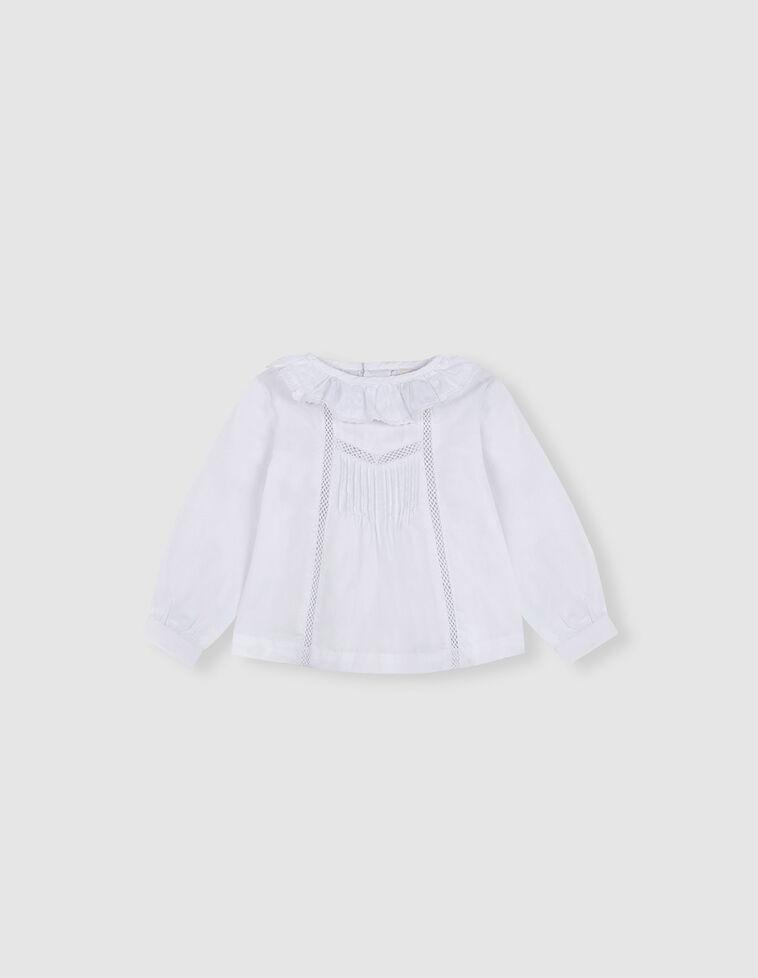 Blusa Branca com folho na gola