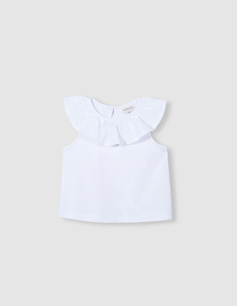 Camiseta volantes blanca