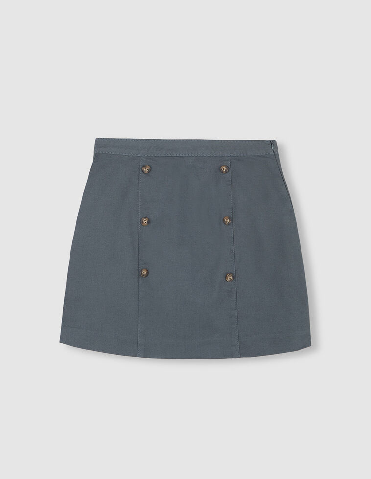 Minifalda doble botonadura