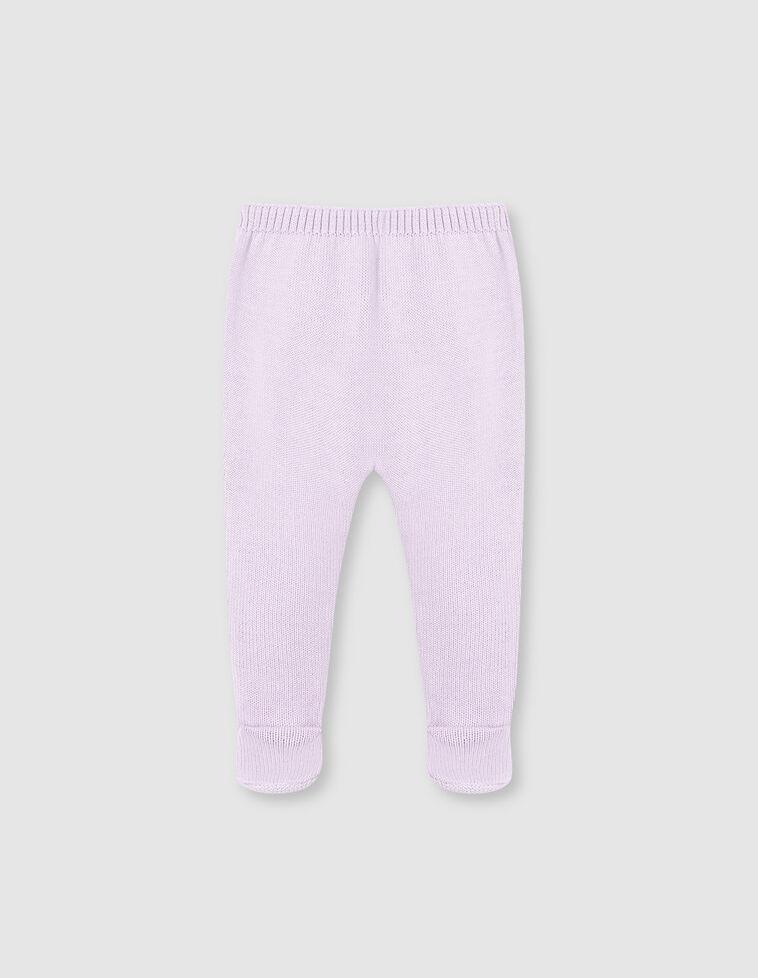Polainas de malha lisas rosa