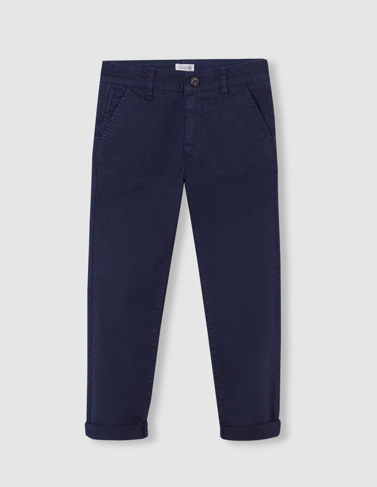 Calças chino azul marinho