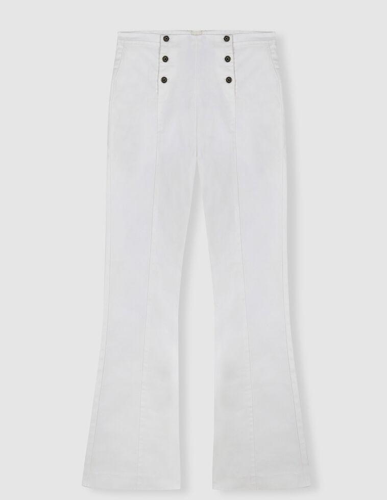 Pantalón tiro alto acamapanado botones