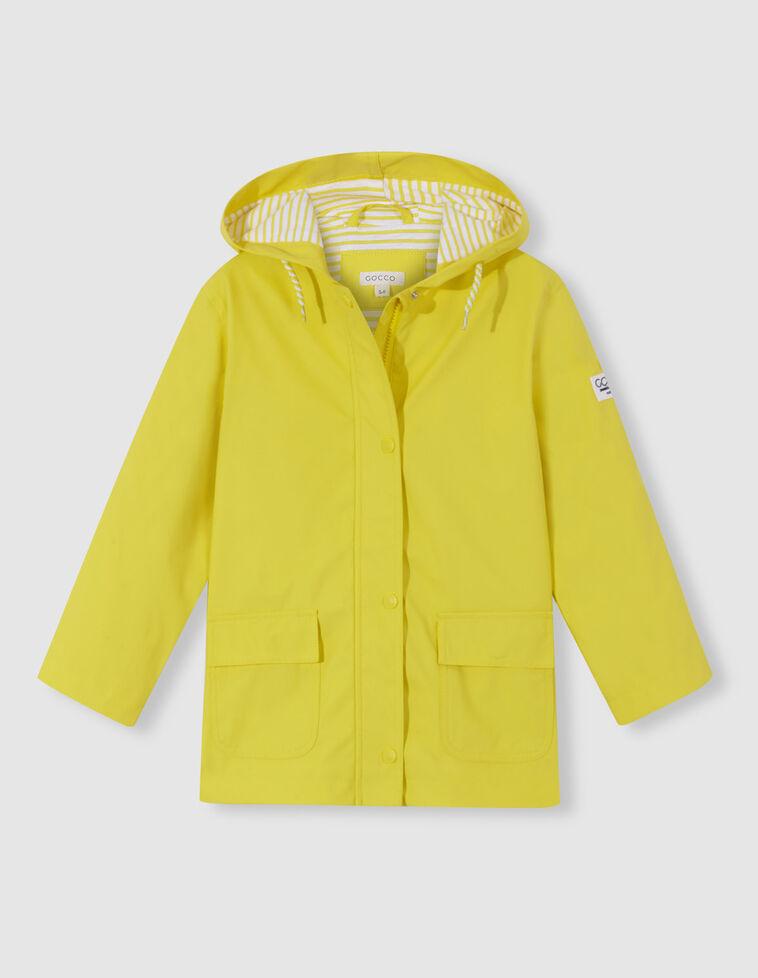 Capa de chuva amarela