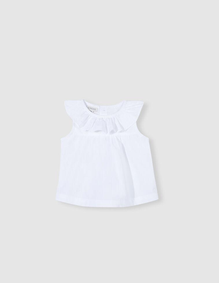 Camisa gola com folho branca