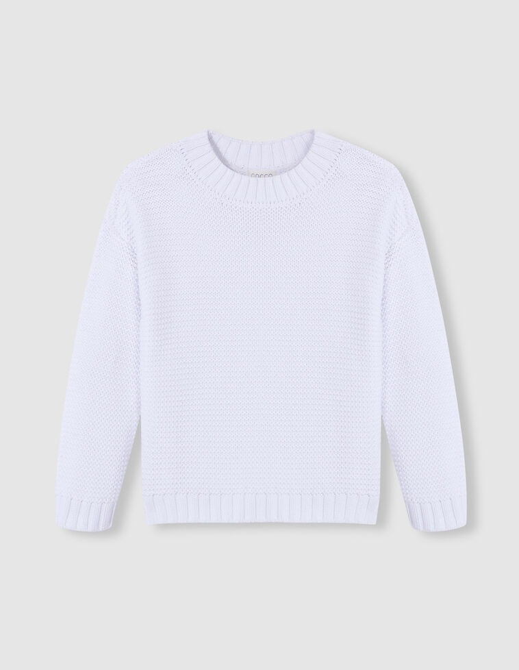 Jersey de punto bobo blanco