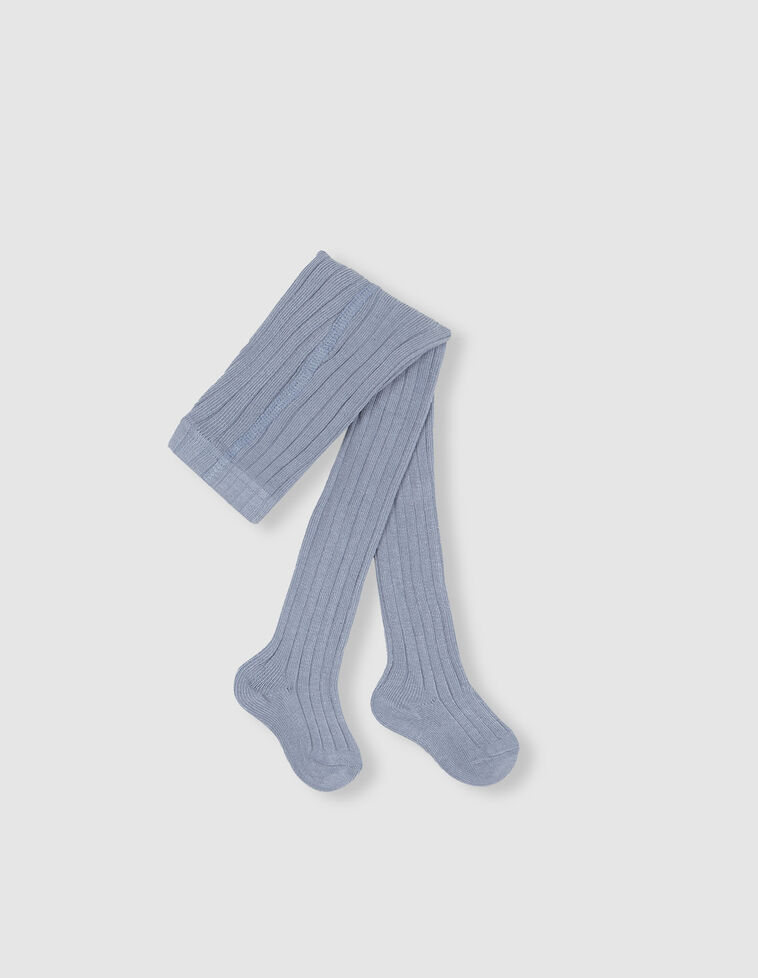 Meia-calça de cor azul