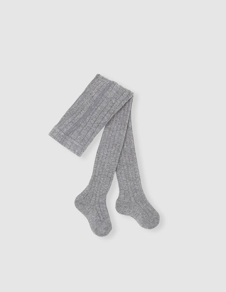 Meia-calça Canelada cinzenta