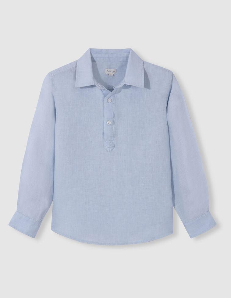 Camisa polera azul claro
