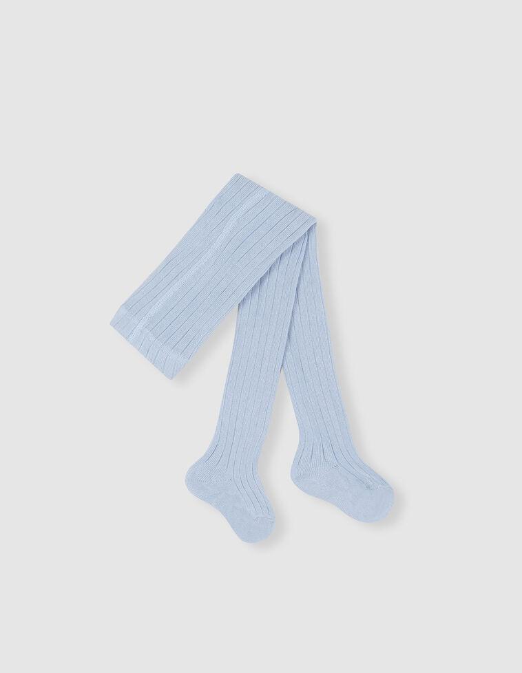 Meia-calça de cor azul-bebé