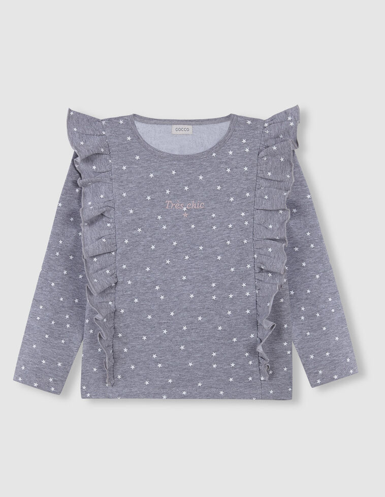 Suéter cinzentas Estrelinhas