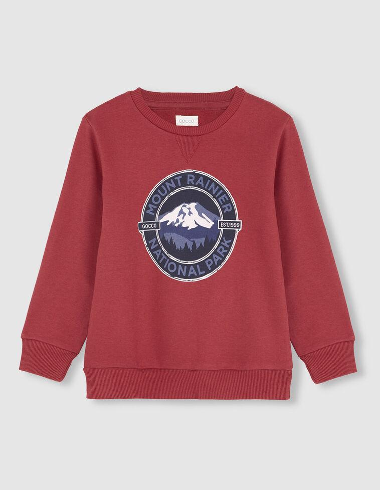 """Suéter vermelho-morango """"Mount Rainier"""""""
