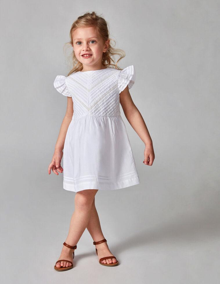 Vestido pregas branco