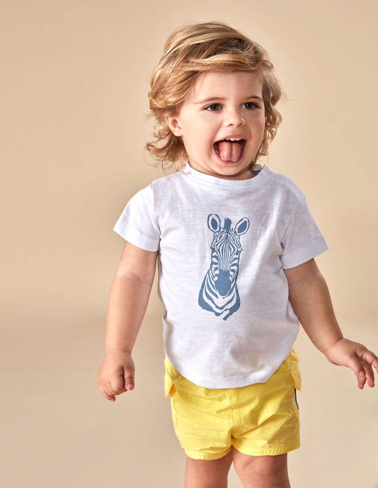 Camiseta cebra azul