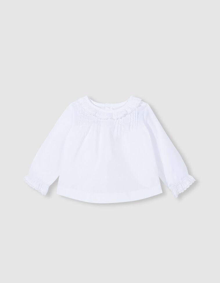 Camisa com pregas branca